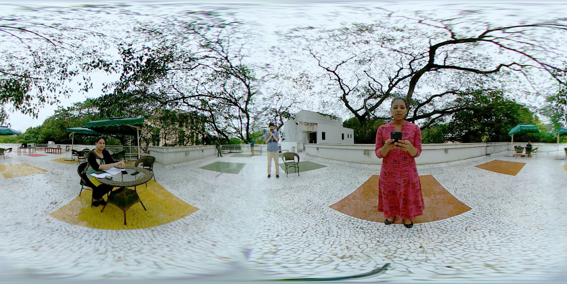 Rehearsal using a regular 360 camera